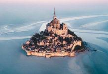 mont st michele francuska dvorac ostrvo