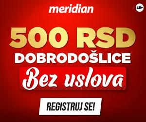 meridian bet 500 rsd popust